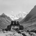 36a - Manaslu, Pohled na hřeben Himaláje (60x60)