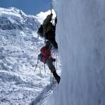 42 - Lezení v ledopádu Tirič Mir (60x40)