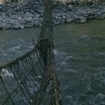 83 - Makalu, Lijánový most přes řeku Arun (40x60)